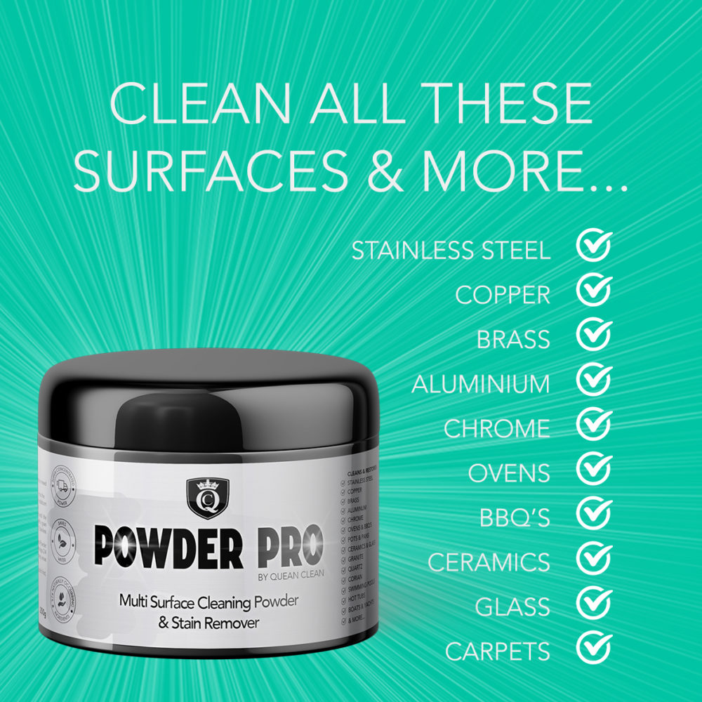 Powder Pro By Quean Clean = - Multi Surface Cleaner and Stain Remover