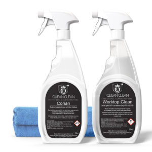 Quean Clean Corian Cleaning Kit with Cloths